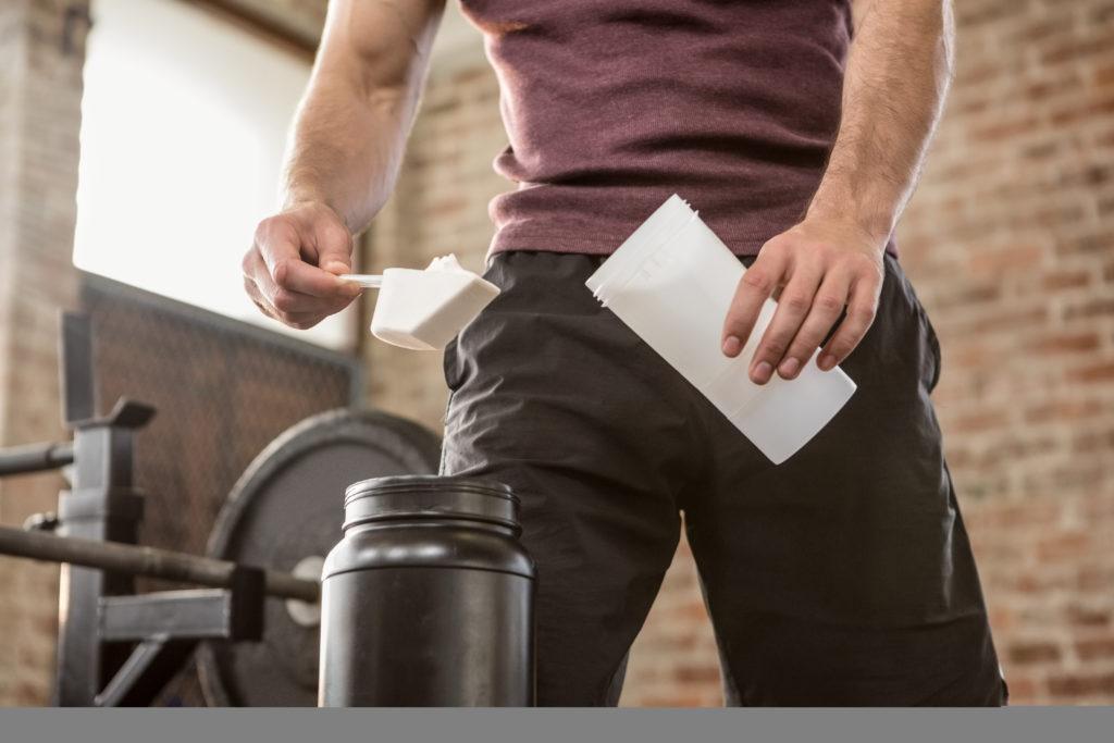 Man Making Protein Shake